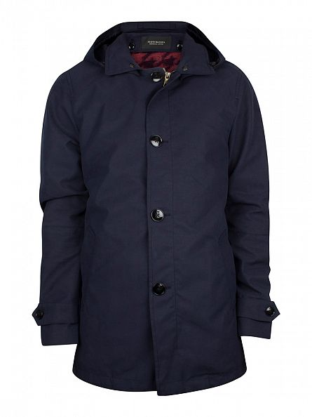 Scotch & Soda Bright Ink Fish Tail Trench Coat