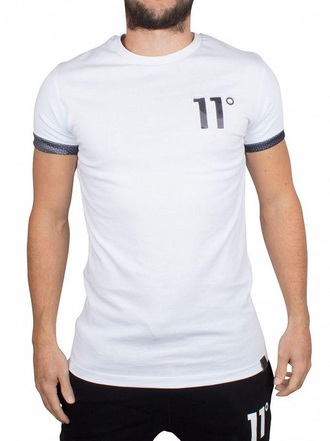 11 Degrees White Block Camo Logo T-Shirt