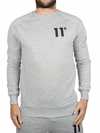 11 Degrees Grey Marl Core Logo Sweatshirt