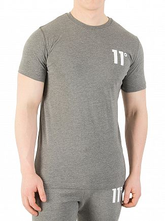 11 Degrees Charcoal Core Logo T-Shirt