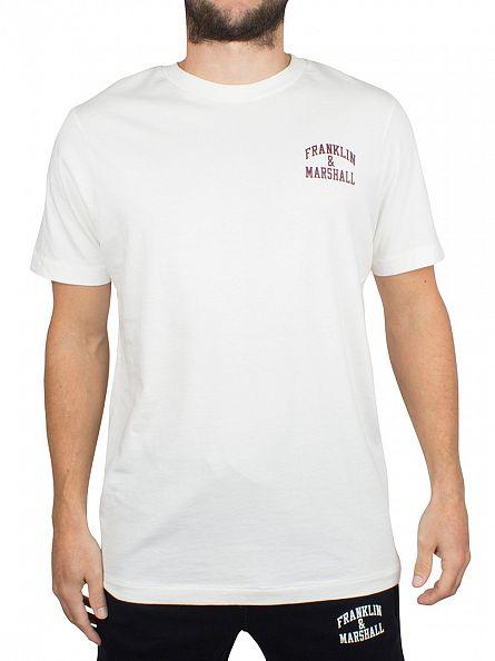 Franklin & Marshall Old White Chest Logo T-Shirt