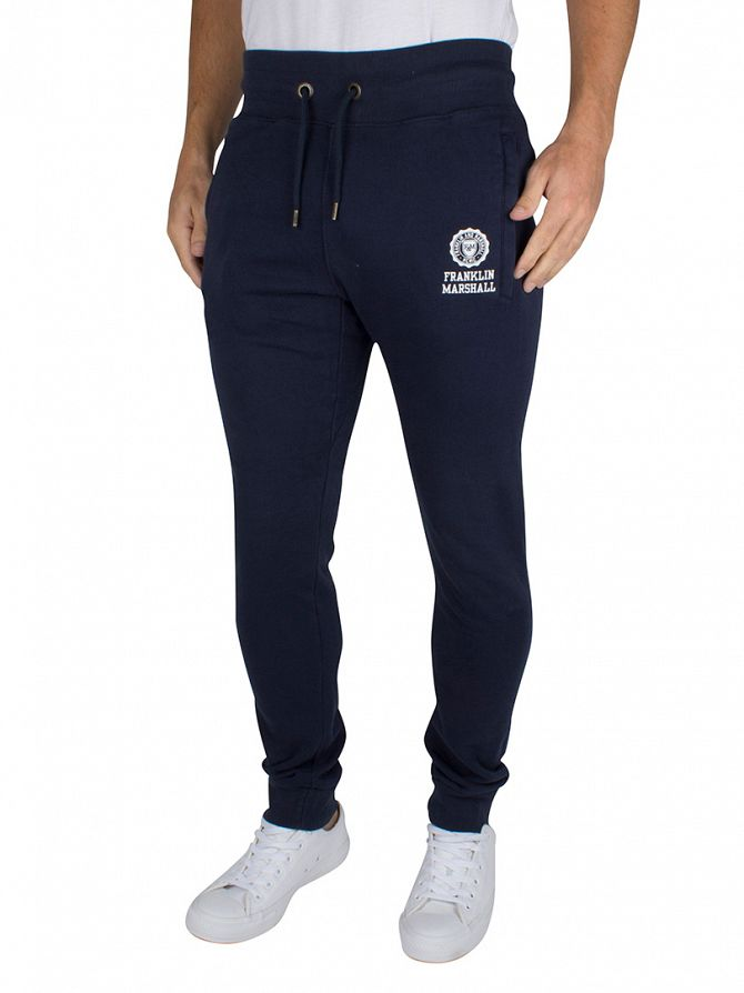 Franklin & Marshall Navy Skinny Fit Logo Joggers