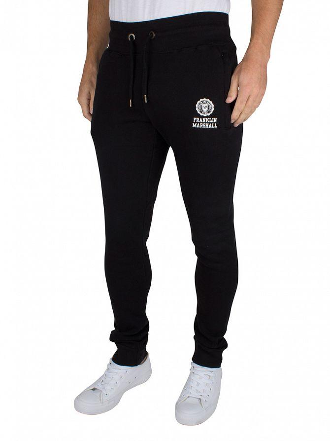 Franklin & Marshall Black Skinny Fit Logo Joggers