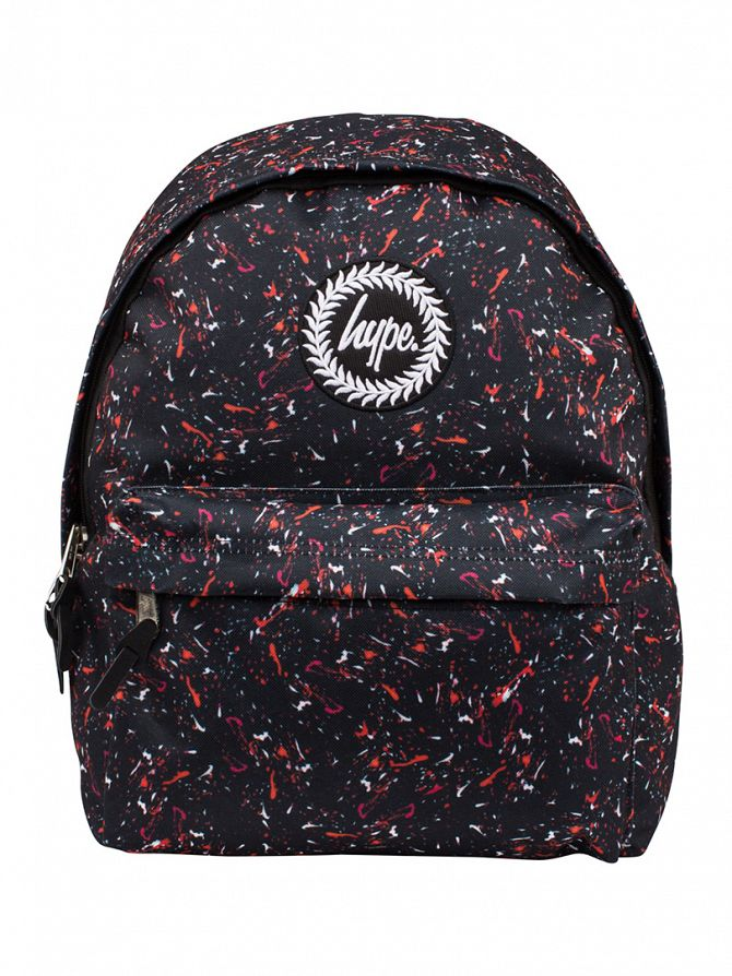 Hype Black/Red Inferno Logo Backpack