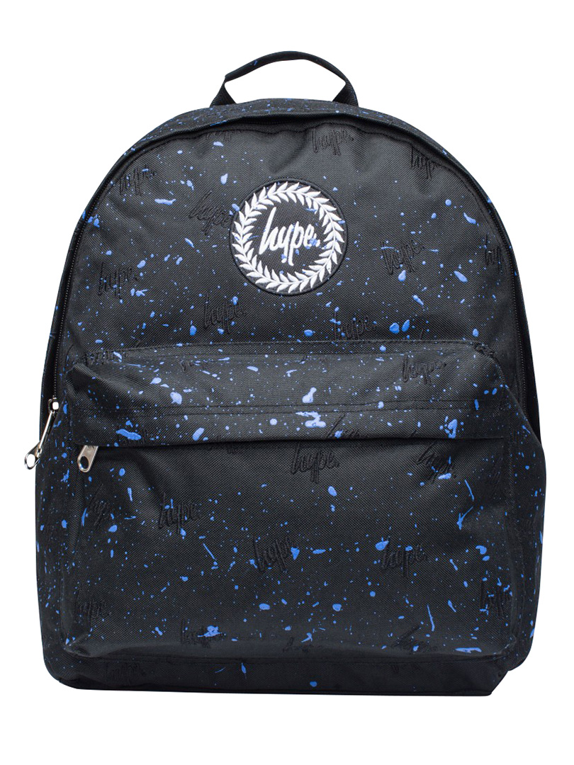 ae32e3e13782 Hype Black Navy Script Embroidery Splat Logo Backpack