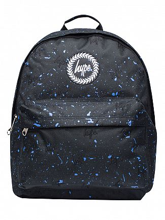 Hype Black/Navy Script Embroidery Splat Logo Backpack