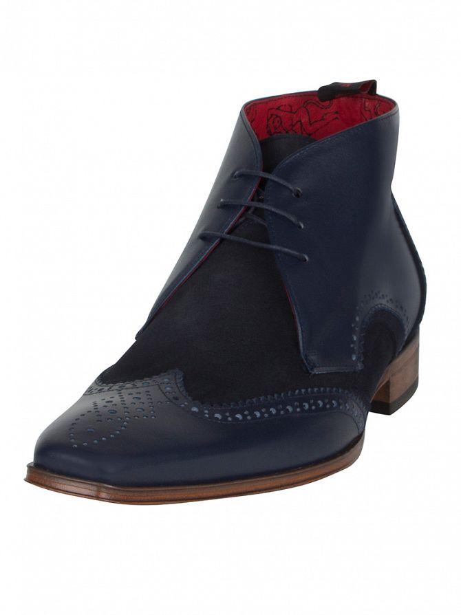 Jeffery West Dark Blue/Dark Blue Scarface Boxcalf Boots