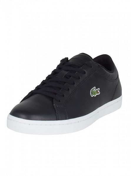 Lacoste Black/Black Straightset G316 3 SPM Trainers
