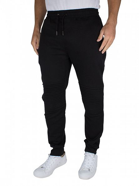 Only & Sons Black Fritz Quilted Logo Joggers
