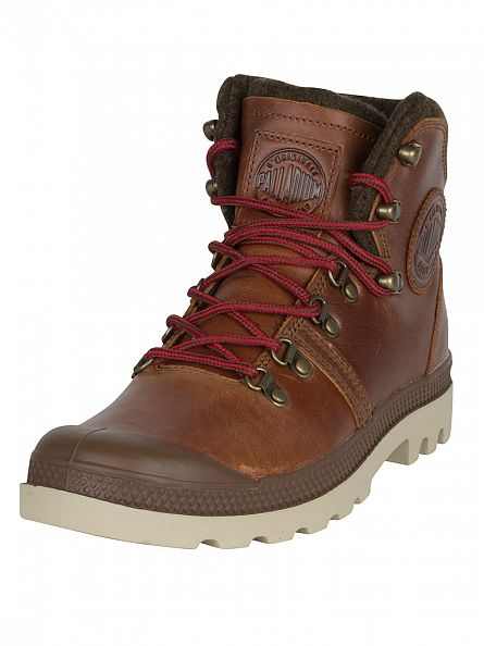 Palladium Sunrise/Red/Safari Pallabrouse Hiker Boots
