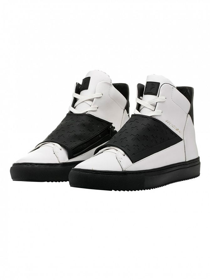 Religion White Relm Leatherette & Neoprene Boots