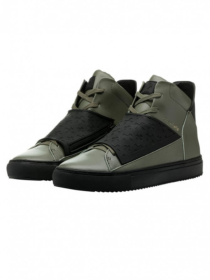 Religion Olive Relm Leatherette & Neoprene Boots