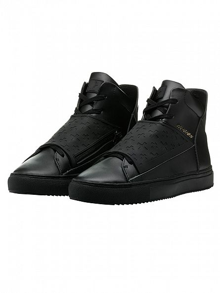 Religion Black Relm Leatherette & Neoprene Boots