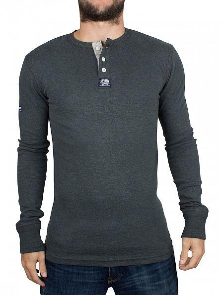 Superdry Sequoia Marl Longsleeved Heritage Grandad T-Shirt