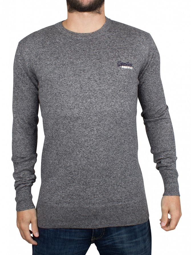 Superdry Steel Twist Orange Label Logo Knit