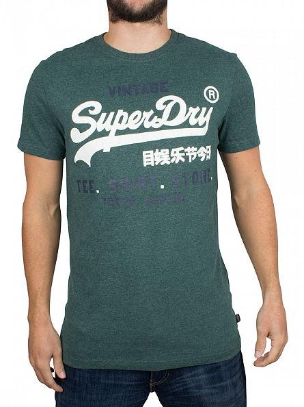 Superdry Forest Marl Shop Duo Graphic T-Shirt