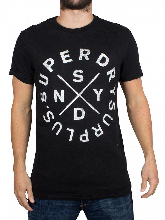 Superdry Jet Black Surplus Goods Graphic T-Shirt