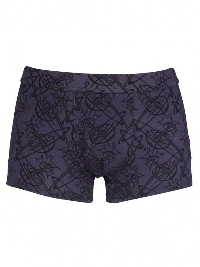 Vivienne Westwood Purple All Over Logo Trunks