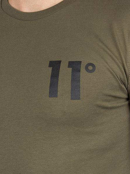 11 Degrees Khaki Longsleeved Core Logo T-Shirt