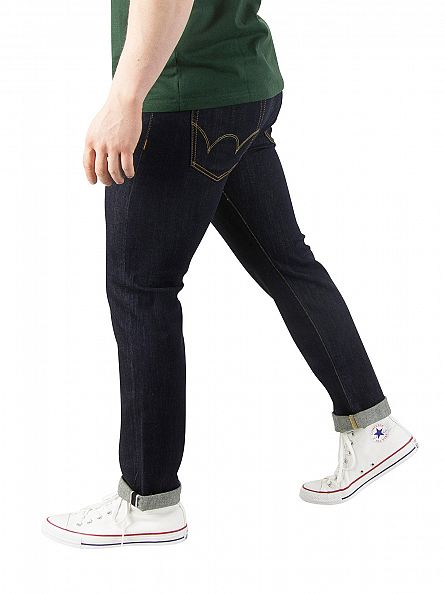 Edwin Dark Blue ED-80 Slim Tapered Red Listed Selvedge Denim Jeans
