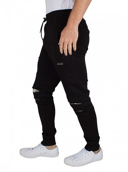 Foray Black Denmark Distressed Camo Jogger
