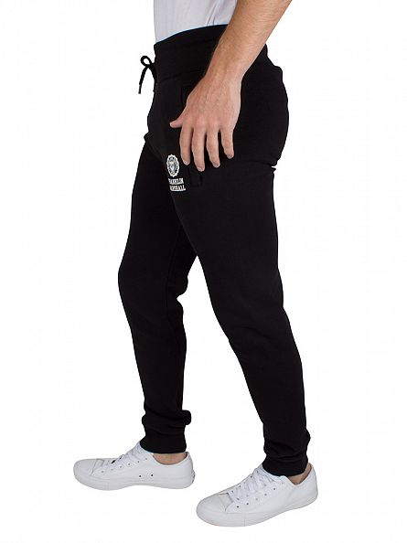 Franklin & Marshall Black Slim Fit Logo Joggers