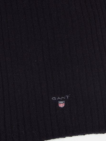 Gant Navy Ribbed Logo Scarf