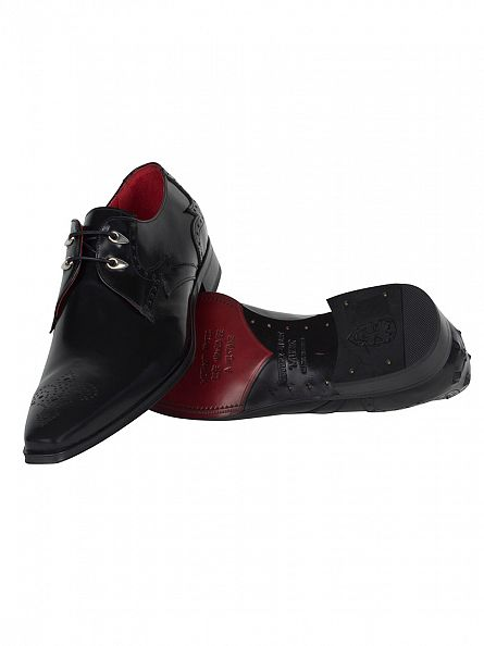 Jeffery West College Black Yardb Polished Shoes