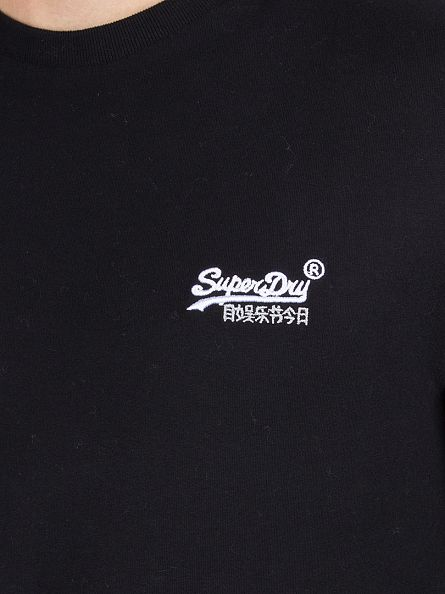 Superdry Black Longsleeved Orange Label Vintage T-Shirt