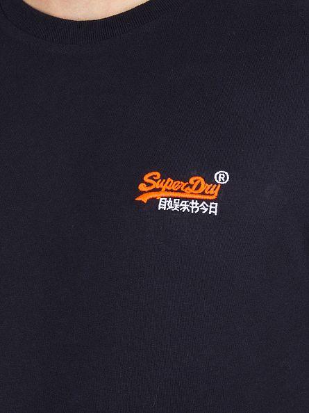 Superdry Truest Navy Orange Label Vintage Logo T-Shirt