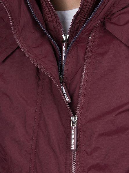 Superdry Oxblood/French Navy Pop Zip Artic Windcheater Jacket