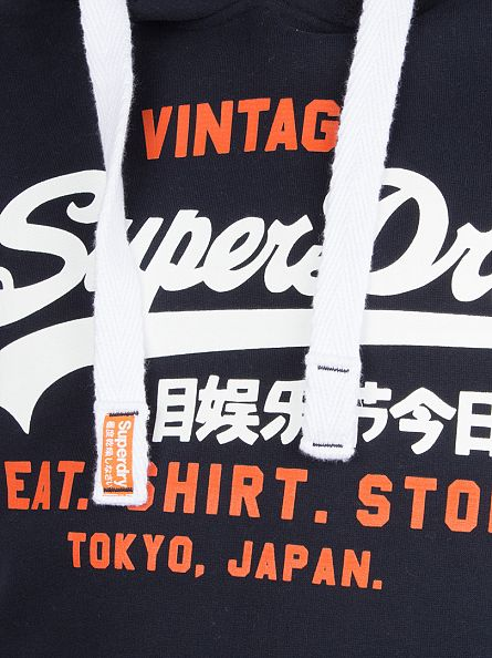 Superdry Eclipse Navy Store Graphic Hoodie