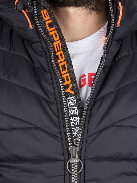 Superdry Gritty Black Storm Hybrid Raglan Zip Jacket