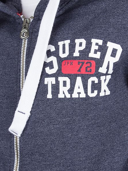 Superdry Enamel Blue Grit Trackster Logo Zip Hoodie