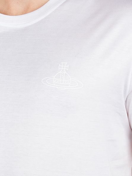 Vivienne Westwood White Chest Logo T-Shirt
