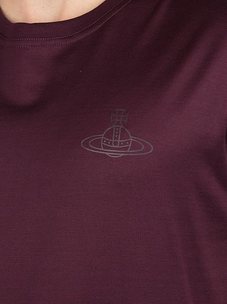 Vivienne Westwood Burgundy Chest Logo T-Shirt