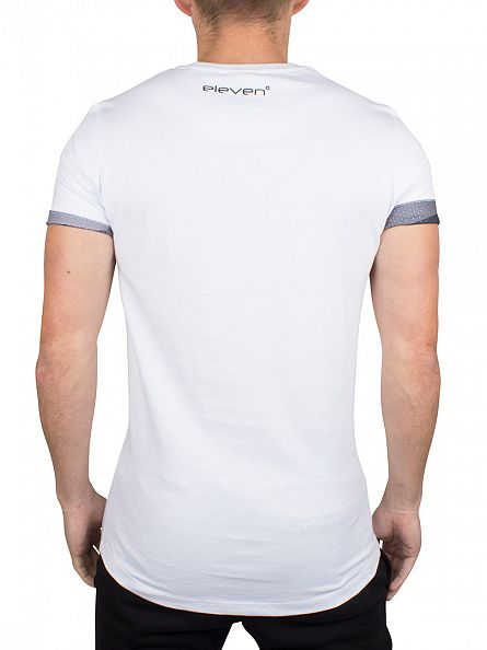 11 Degrees White Block Camo Logo T-Shirt