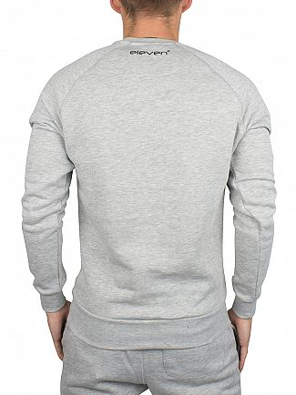 11 Degrees Grey Marl Core Logo Sweatshirt