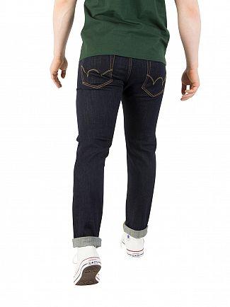 Edwin Dark Blue ED-80 Slim Tapered Red Listed Selvedge Denim Jeans