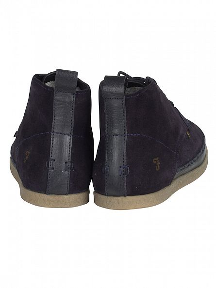 Farah Vintage Navy Drape Suede Boots