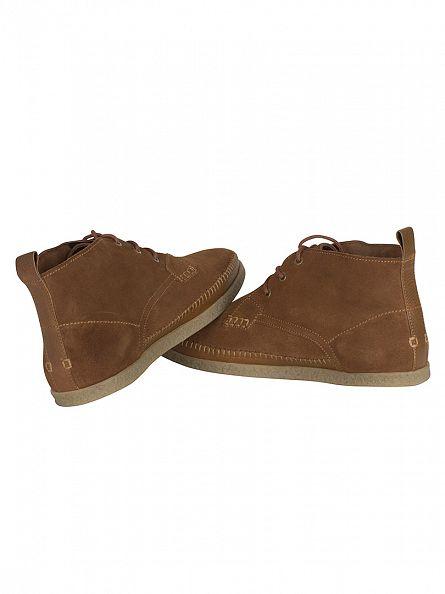 Farah Vintage Cognac Drape Suede Boots
