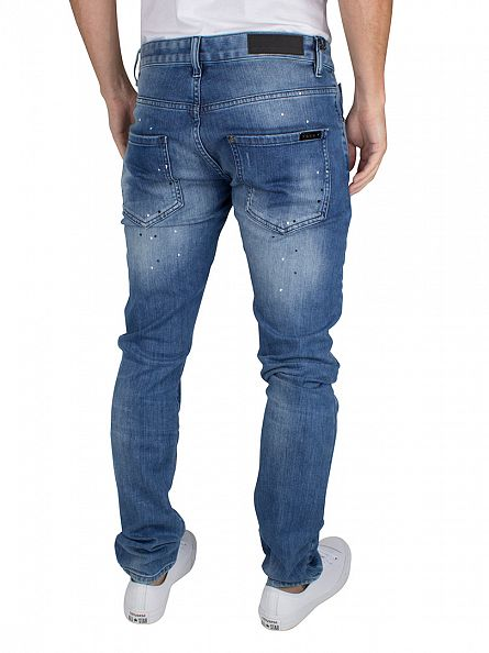 Foray Light Blue Miami Ripped Worn Jeans