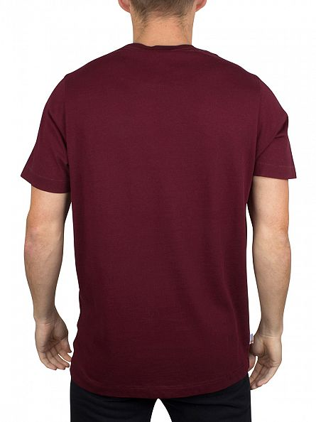 Franklin & Marshall Bordeaux Chest Logo T-Shirt