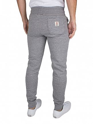 Franklin & Marshall Sport Grey Slim Fit Logo Marled Joggers