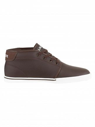 Lacoste Dark Brown/Dark Brown Ampthill LCR3 SPM Hi Trainers