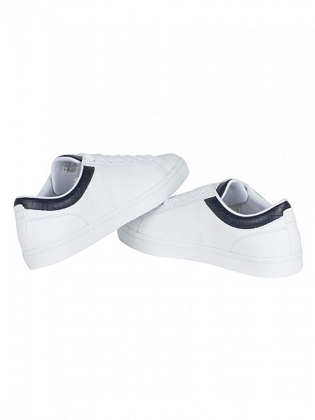 Lacoste White/Navy Straightset G316 3 SPM Trainers