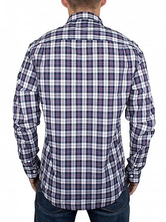Original Penguin Medieval Blue Slim Fit P55 Plaid Shirts