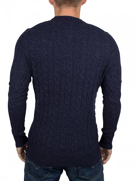 Superdry Dark Indigo/Navy Twist Harlo Cable Knit
