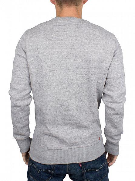 Superdry Pearl Grey Knit Orange Label Logo Sweatshirt