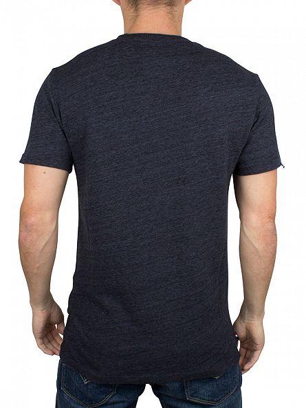 Superdry Nebular Navy Heather Premium Goods Graphic T-Shirt